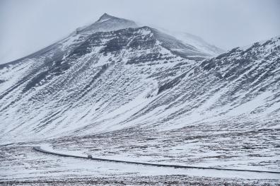 Road near Hotel Budir, Iceland